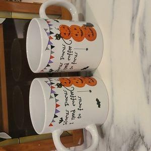 Pair of Hocus Pocus Halloween mugs